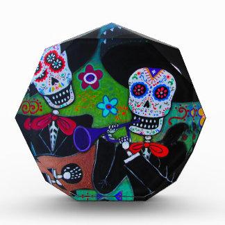 Dos Amigos Dia de los Muertos Mariachi Acrylic Award