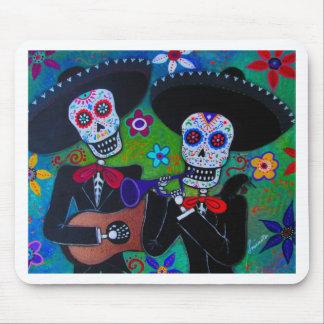 Dos Amigos Dia de los Muertos Mariachi Mousepad