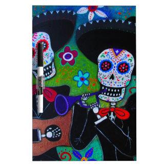 DOS Amigos Dia de los Muertos Mariachi Pizarra