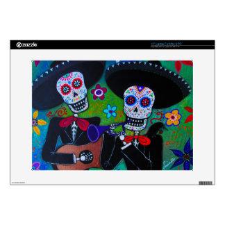 Dos Amigos Dia de los Muertos Mariachi Decal For Laptop