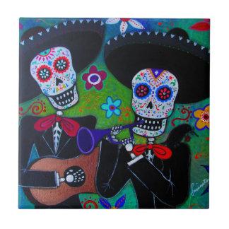 Dos Amigos Dia de los Muertos Mariachi Tiles