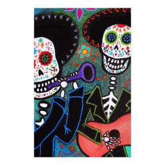 Dos Amigos Dia de los Muertos Stationery