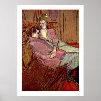 Dos amigos en el burdel por Toulouse-Lautrec Posters