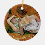 Dos amigos por Toulouse-Lautrec (versión 2) Ornamento De Navidad