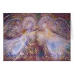 Dos ángeles, ángeles están vigilando usted tarjeta