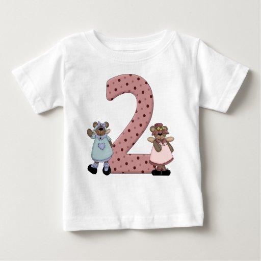 Dos ángeles del oso del baile de los años t shirts