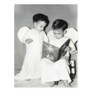 Dos ángeles para la postal de Chrstmas