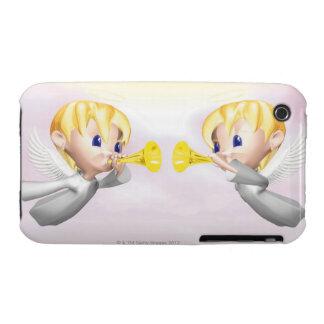 Dos ángeles que soplan los cuernos, CG, 3D, iPhone 3 Protector