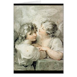 Dos ángeles, siglo XVIII Felicitaciones