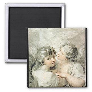 Dos ángeles, siglo XVIII Imán