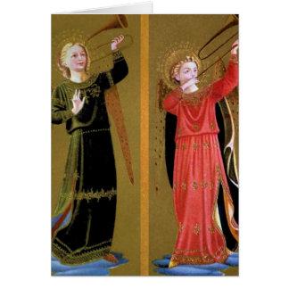 Dos ángeles tarjeta de felicitación