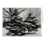Dos árboles en el invierno (tarjeta de felicitació