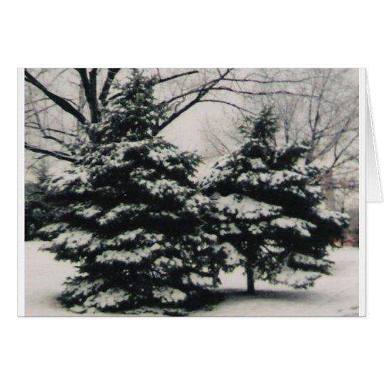 Dos árboles en el invierno (tarjeta de felicitació tarjeta de felicitación