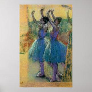 Dos bailarines azules póster