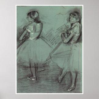 Dos bailarines, C. 1879, Edgar Degas Póster