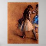 Dos bailarines de Edgar Degas Poster