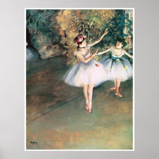 Dos bailarines en una etapa, 1874 - Edgar Degas Impresiones