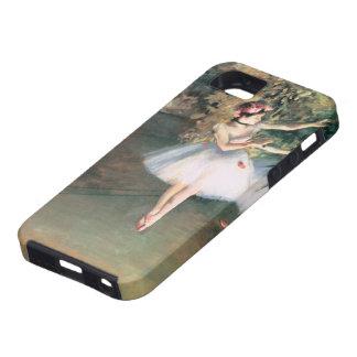 Dos bailarines en una etapa de Edgar Degas, arte iPhone 5 Funda