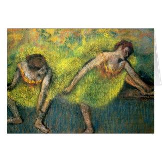 Dos bailarines tarjetas