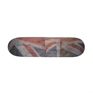 """dos banderas británicas grunge de 7-1/4"""" monopatin personalizado"""
