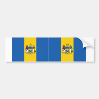 Dos banderas de Philadelphia Pegatina Para Auto