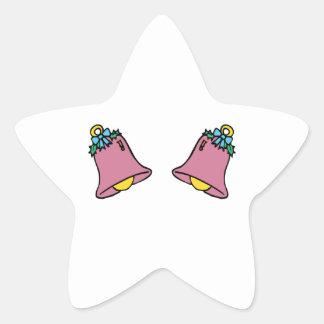 Dos Belces Calcomanía Forma De Estrella