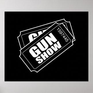 Dos boletos a la demostración de arma póster