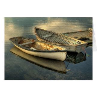 Dos botes pequeños en la ensenada de Peggy - Tarjeta De Felicitación