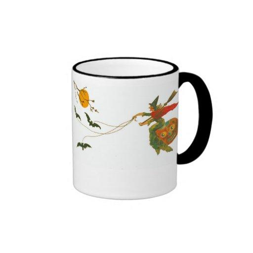 Dos brujas lindas tazas de café
