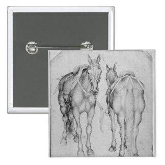 Dos caballos, el álbum de Vallardi Pin Cuadrada 5 Cm