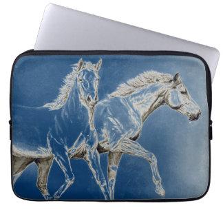 Dos caballos funda portátil