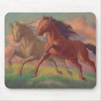 Dos caballos tapete de raton