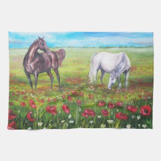 dos caballos toalla de cocina