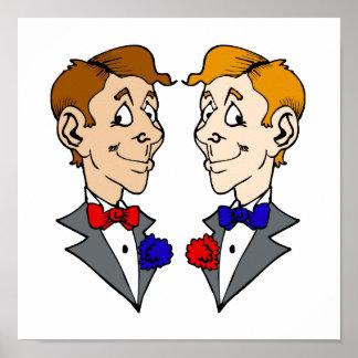 Dos cabezas de los novios póster
