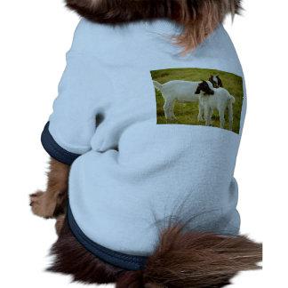Dos cabras camiseta con mangas para perro