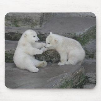 Dos cachorros del oso polar tapete de ratón
