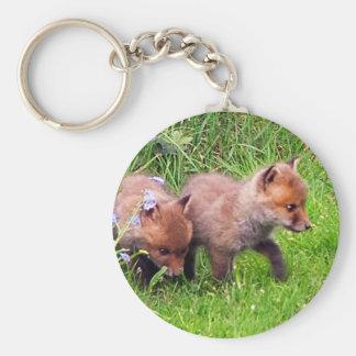 dos cachorros del zorro llavero personalizado