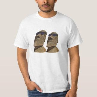 Dos cadera Moai - camiseta del valor