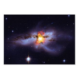 """Dos calabozos de combinación en la galaxia NGC Invitación 3.5"""" X 5"""""""