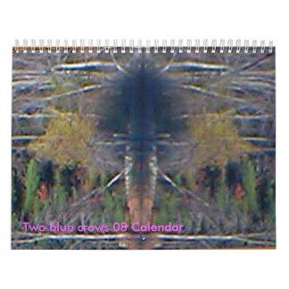 Dos calendario azul de los cuervos 08
