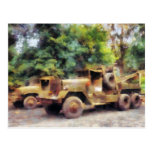 Dos camiones de ejército tarjetas postales