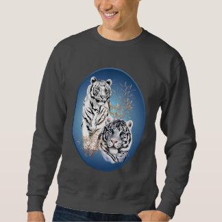 Dos camisetas blanco del óvalo de los tigres sudadera