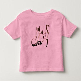 Dos camisetas de los gatos siameses