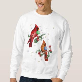 Dos camisetas de los pájaros del navidad sudadera