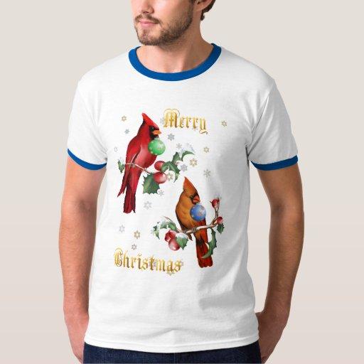 Dos camisetas indicado con letras de los pájaros remeras