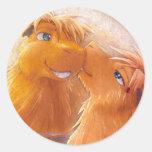 Dos Capybaras Etiquetas Redondas