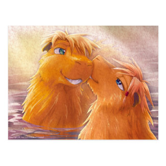 Dos Capybaras Tarjetas Postales
