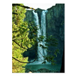 Dos cascadas largas que fluyen junto tarjeta postal