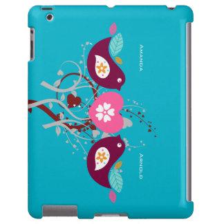 Dos casos del ipad de los pájaros del amante funda para iPad