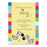 Dos cebras - la fiesta de cumpleaños de los invitaciones personalizada